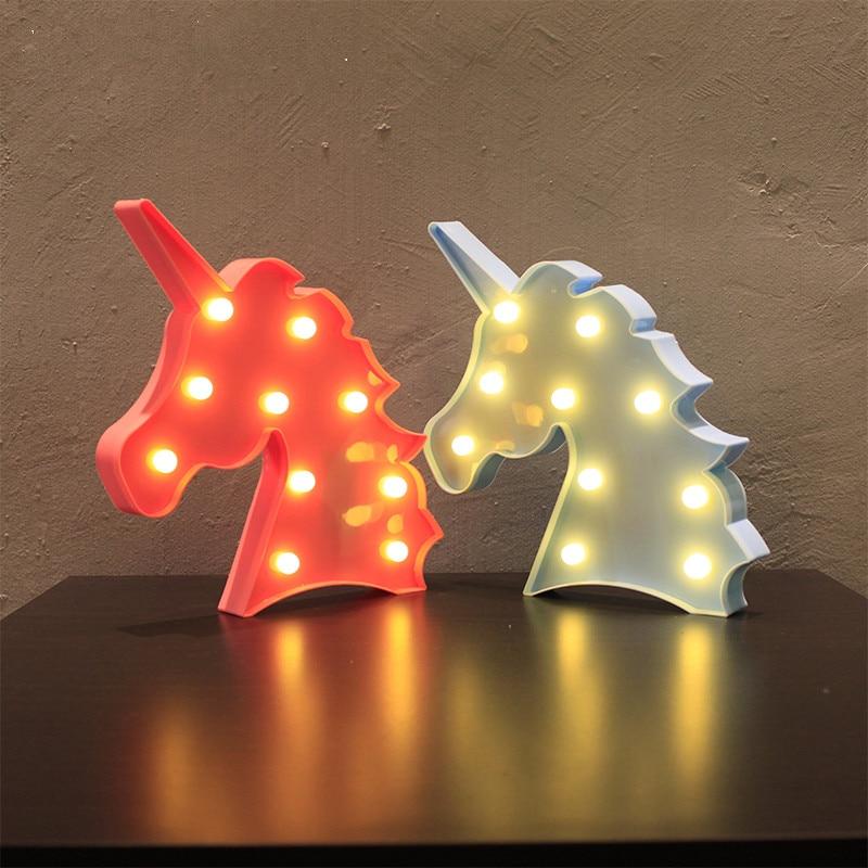 Фламинго светодиодный ночник ананас кактус Единорог настольная лампа шатер светодиодный письмо ночника для вечерние принадлежности Baby Де...