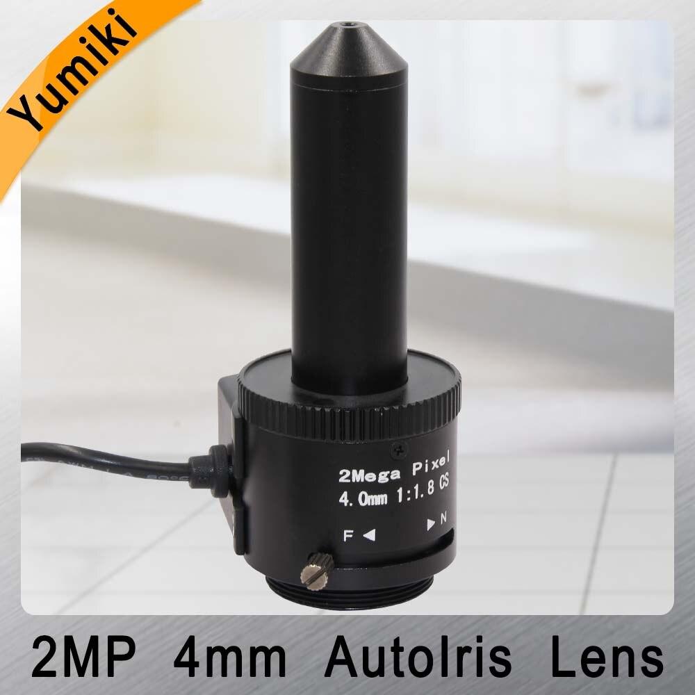 Yumiki 2.0 Mégapixels Auto Iris Sténopé lentille 4mm 1/3