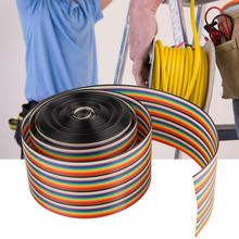цена на Colorful 40 Pin Flat Rainbow Ribbon Cable Wire IDC Cable Wire 1.27mm Spacing Pitch Cable Width 5.08cm