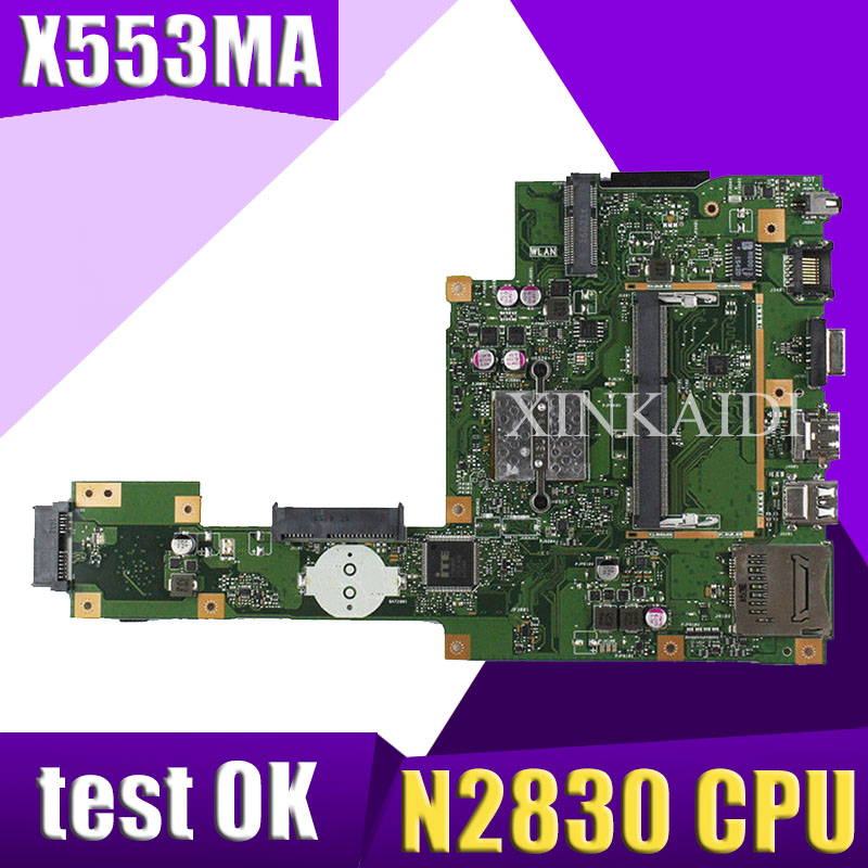 XinKaidi  X553MA MAIN_BD._0M/N2830/AS For ASUS A553M X503M F503M X553MA X503M X553M F553M F553MA laptop motherboard 100% testedXinKaidi  X553MA MAIN_BD._0M/N2830/AS For ASUS A553M X503M F503M X553MA X503M X553M F553M F553MA laptop motherboard 100% tested