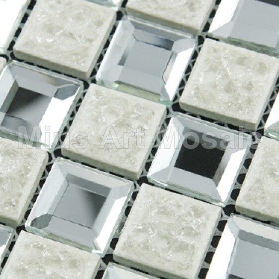 Abschragung Silber Spiegel Glas Fliesen Gemischt Keramik Mosaik