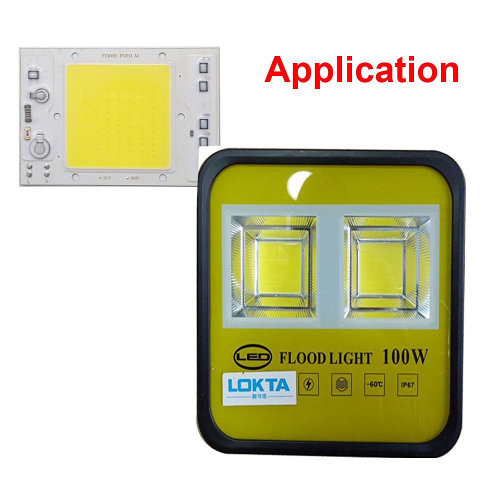 5PCS LOT LED COB Chip 30W 40W 50W 220V 110V Anti Surge design Smart IC Light High Lumen Chip For DIY LED Floodlight Light Bead in Light Beads from Lights Lighting