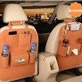 Los organizadores del coche material de fieltro auto back seat hanging organizador bolsa de almacenamiento multi-bolsillo negro del coche taza de agua caja de almacenamiento