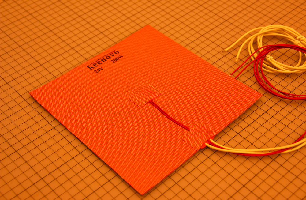 200X200mm 200W 24V w NTC 100K Thermistor Keenovo Silicone Heater 3D Printer Heater Heatbed First Grade