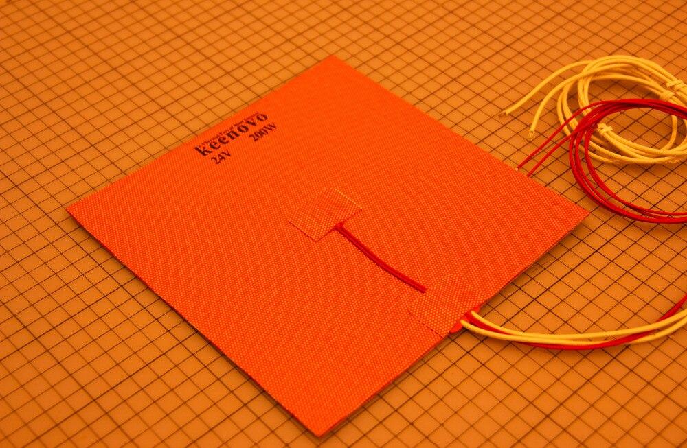 200X200mm, 200W @ 24 V, w/NTC 100 K Termistor, Keenovo Silicone Aquecedor Aquecedor Impressora 3D, Heatbed, primeiro Grau de Qualidade Garantida