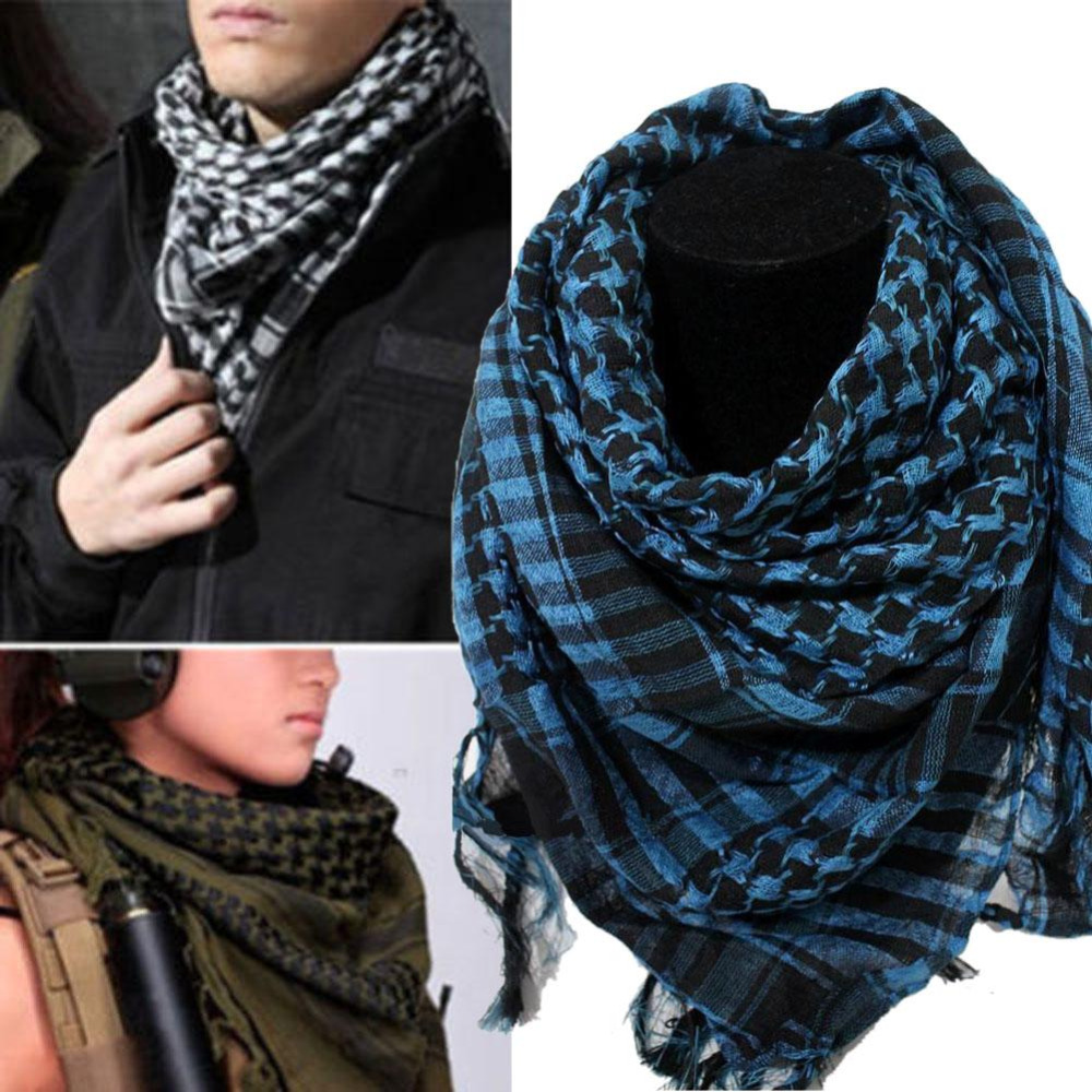 Palestine Scarf Wrap Shemagh Keffiyeh Arab Men Shawl Military Kafiya Tactical High-Quality