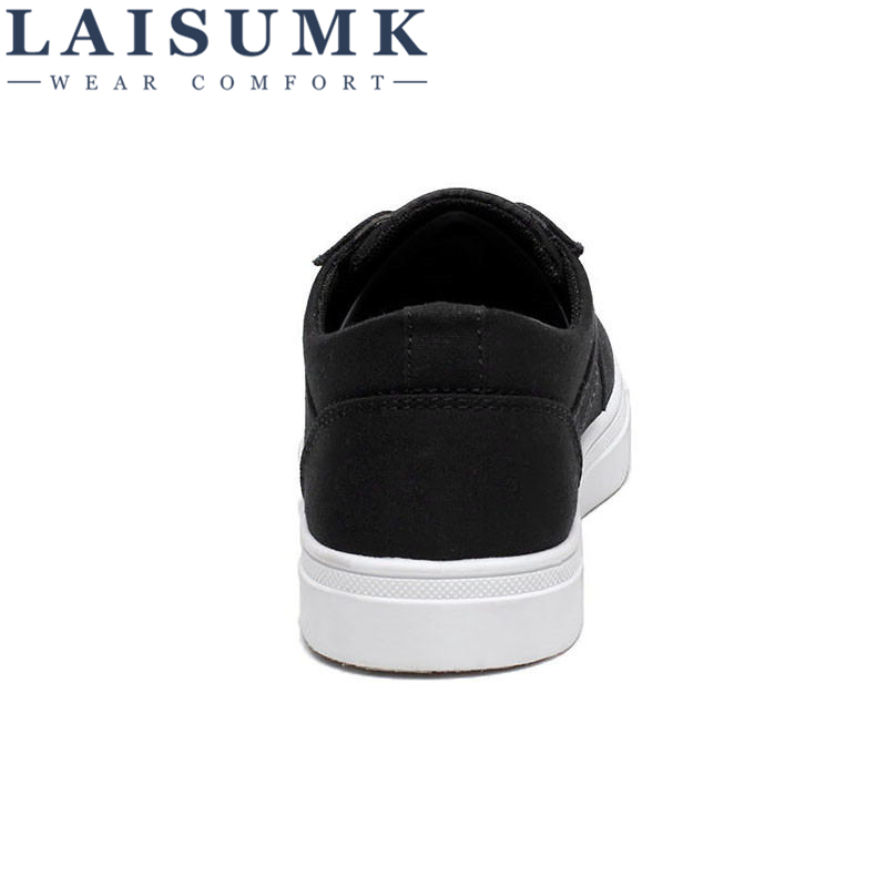 2019 LAISUMK Men 39 s Canvas Shoes Hot Sale Breathable Casual Shoes Male Lace up Vulcanized Shoes Men Flats Footwears Free Shipping in Men 39 s Casual Shoes from Shoes