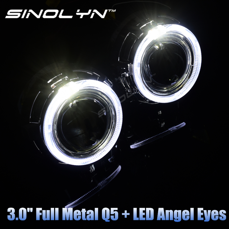 Car Styling Automobiles Full Metal Q5 H4 3 0 HID Bixenon Lens Projector Headlight D2S D2H