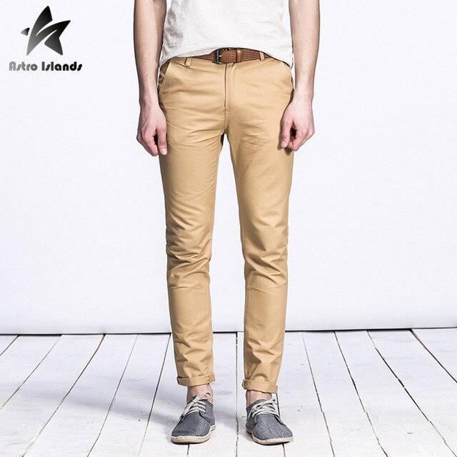 2016 Autumn Brand Casual Mens Pants 100% Cotton Solid Color Trousers Fashion Slim Men Long Sweatpants Homme Clothing LW189