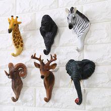 Creative Decoration Hook American Retro Cafe Bar Shop Wall Three-dimensional Animal Hanging