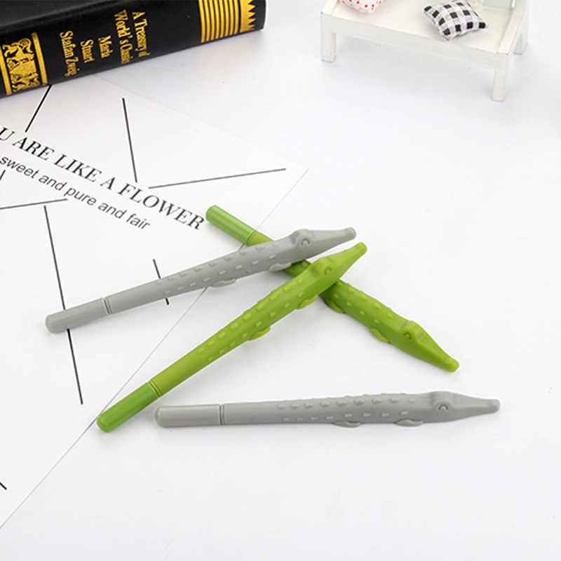 מפעל ישיר קריקטורה תנין סטיילינג ניטראלי עט בעלי החיים שחור ג 'ל חתימת תלמיד עט כתיבה תלמיד