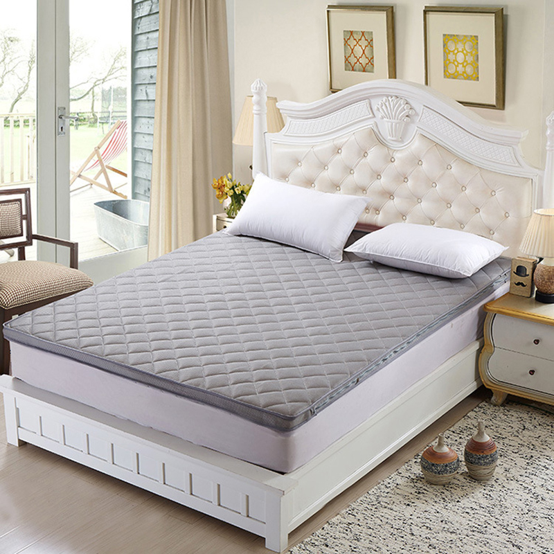 3D Thick Warm Foldable Single Or Double Student Mattress Fashion NEW Topper Quilted <font><b>Bed</b></font> Sherpa