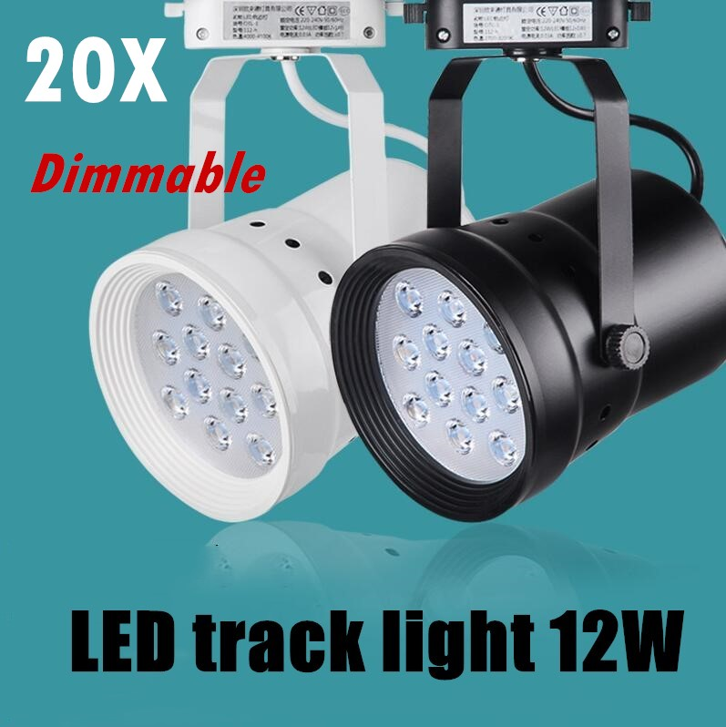 DHL LED Track Light Dimmable 12W Rail Lamp 130-140lm/W Spotlight Shoe Clothing Store Shop Lights Supermarket Indoor Lighting ...