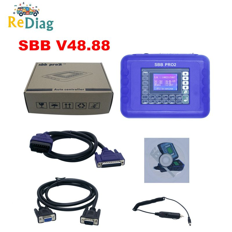 Professional SBB V48.88 SBB PRO2 Updated funtion as SBB V46.02/V33.01/V33.02 MINI ZED Bull Key Programmer for Cars to2017