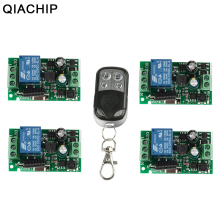 купить QIACHIP 433Mhz Wireless Remote Control Switch AC 110V 220V 1CH RF Relay Receiver Module + 433 Mhz Transmitter Remote Control DIY недорого