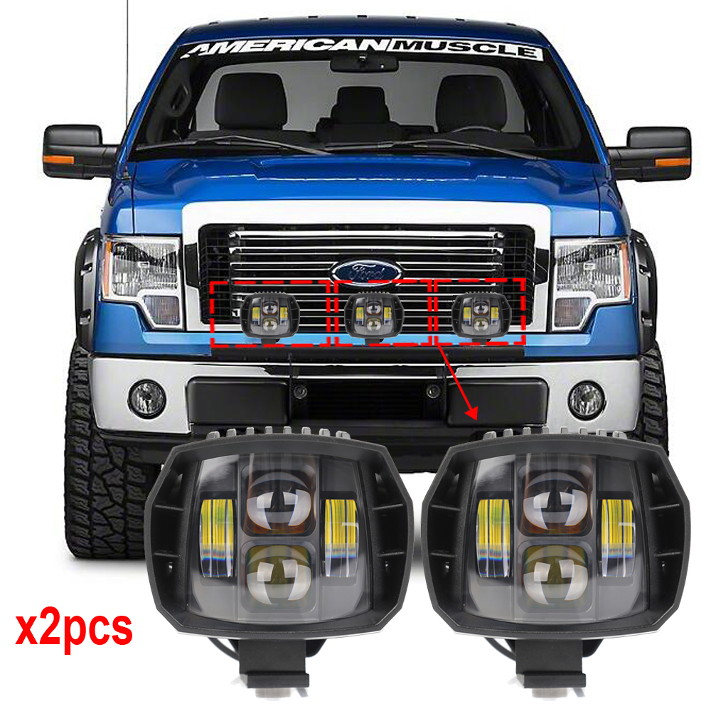 5 inch 40W Led Work Light 12V 24V High Low Beam For 4x4 Off road Boat Truck SUV ATV Headlight Driving Lights x2pcs Free Shipping 5inch new led driving light 40w led headlight low beam lamps for car truck suv atv marine new external light x2pcs free shipping