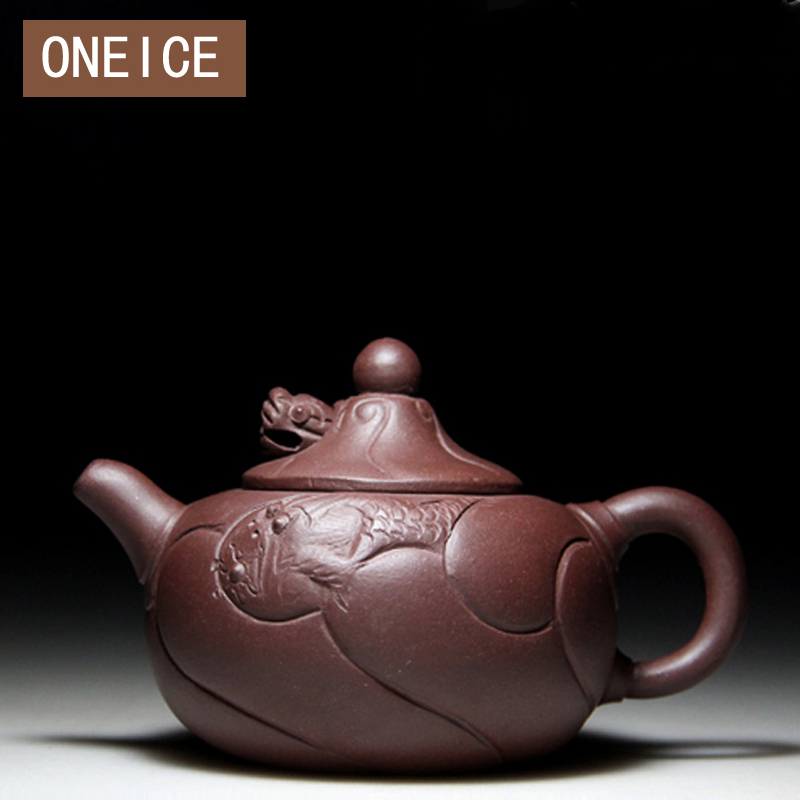 Small Fish Dragon Pot Teaware Yixing Tekanna Zisha Tea Pot Filter Handgjord Kung Fu Tea Set 180ml Kinesiska Tekannor