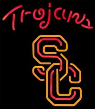 Trojans Glass Neon Light Sign Beer Bar