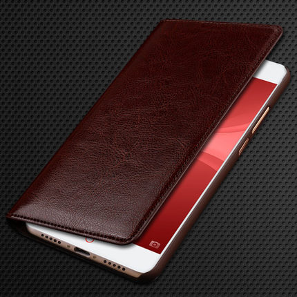 Buy Original Cow Leather Case for ZTE Nubia Z11 Mini S Fashion Phone Protection Flip Cover Bag for Nubia Z11 MiniS 5.2