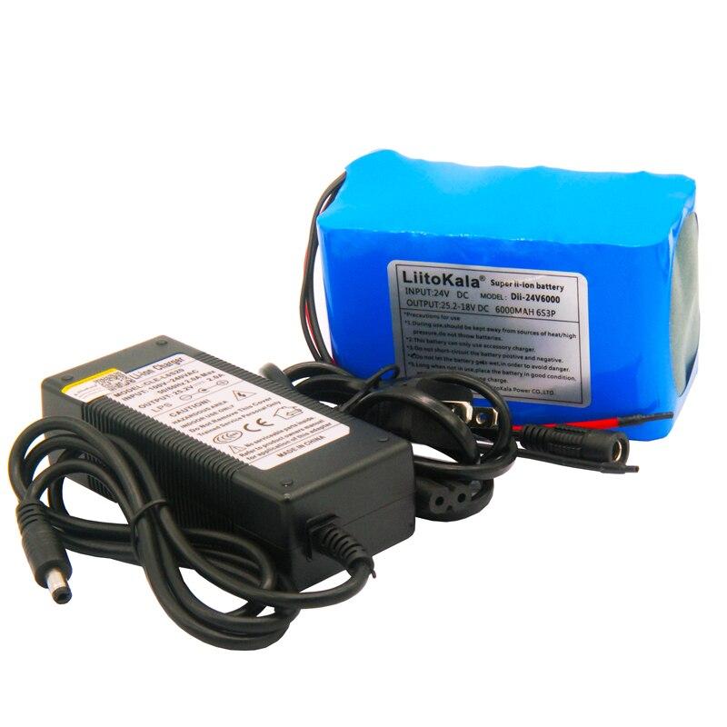 Liitokala 24 V 4ah 6ah 8ah 10ah 12 batería de litio 25.2 V 12ah li-ion para la batería de la bicicleta