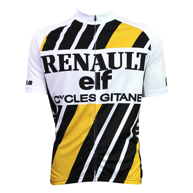 2018 Custom Cool Design Sublimated Renault hot Sport Bike Jersey Tops Cycling Wear Mens Cycling Jersey Cycling Clothing Bike Shi