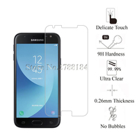10pcs 9H Hardness Tempered Glass For Samsung Galaxy J3 2017 J330FN Screen Protector Protective Film Glass