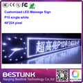 P10 одинокая белая из светодиодов знак мути-градусный язык программируемый из светодиодов сообщение вывеска 48 * 224 пикселей для такси рекламно p10 из светодиодов знак