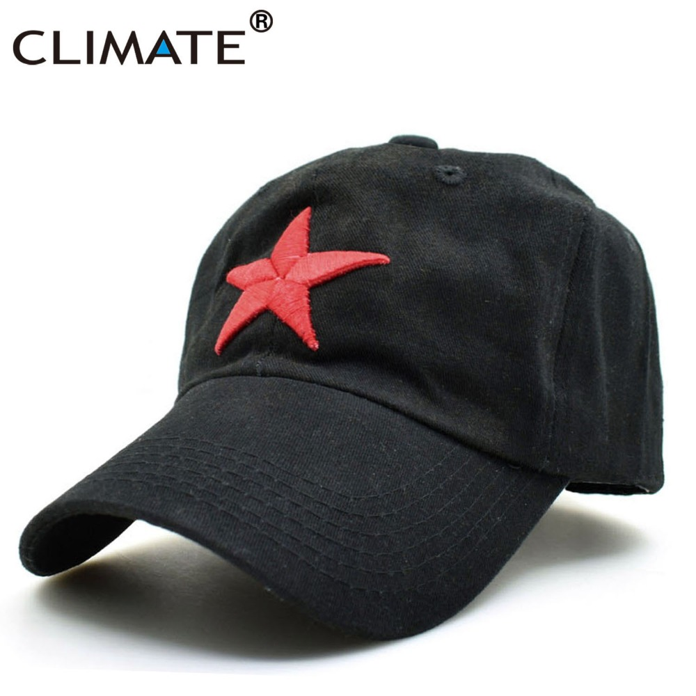 CLIMATE 2017 New Solid Red Star Army Cool Black Baseball Caps China Communist Party The Left International Brigades Army Hat Cap туфли на высоком каблуке vitacci туфли на каблуке