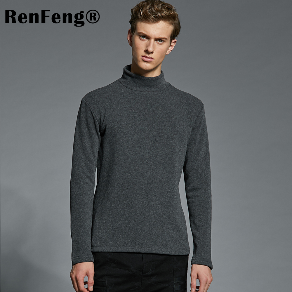 Men's Cotton Undershirts Underwear Long Sleeved Undershirt Spring Turtleneck Shirts Bodybuilding Solid Color Thermal Basic Shirt (3)