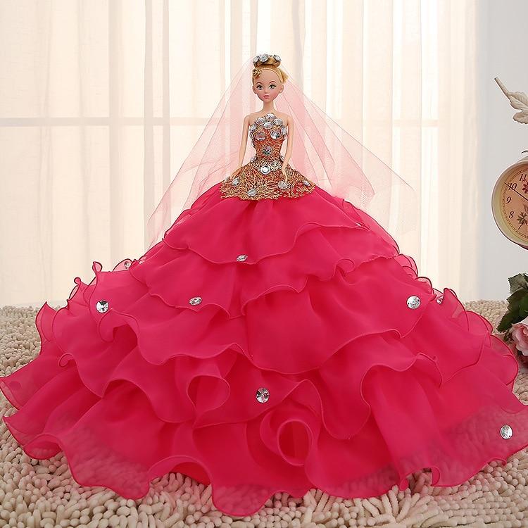 2017 חם למכור 45cm שמלת כלה בובה Top Grade צעצועים אוסף קבל בובות נשוי יום הולדת מתנה עבור בנות מתנה לילדים 3