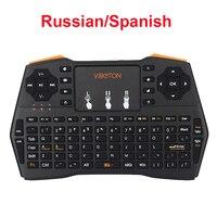 רוסית ספרדית אנגלית מיני מקלדת אלחוטית מיני Keyabord 2.4 גרם נייד מחשב אנדרואיד הטלוויזיה Box עבור כתום Pi לפטל Pi