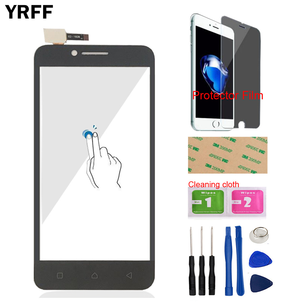 Mobile Touch Screen For Lenovo A2020 Vibe C A2020a40 Touch Screen Digitizer  Panel Front Glass Sensor Tools Free Protector Film