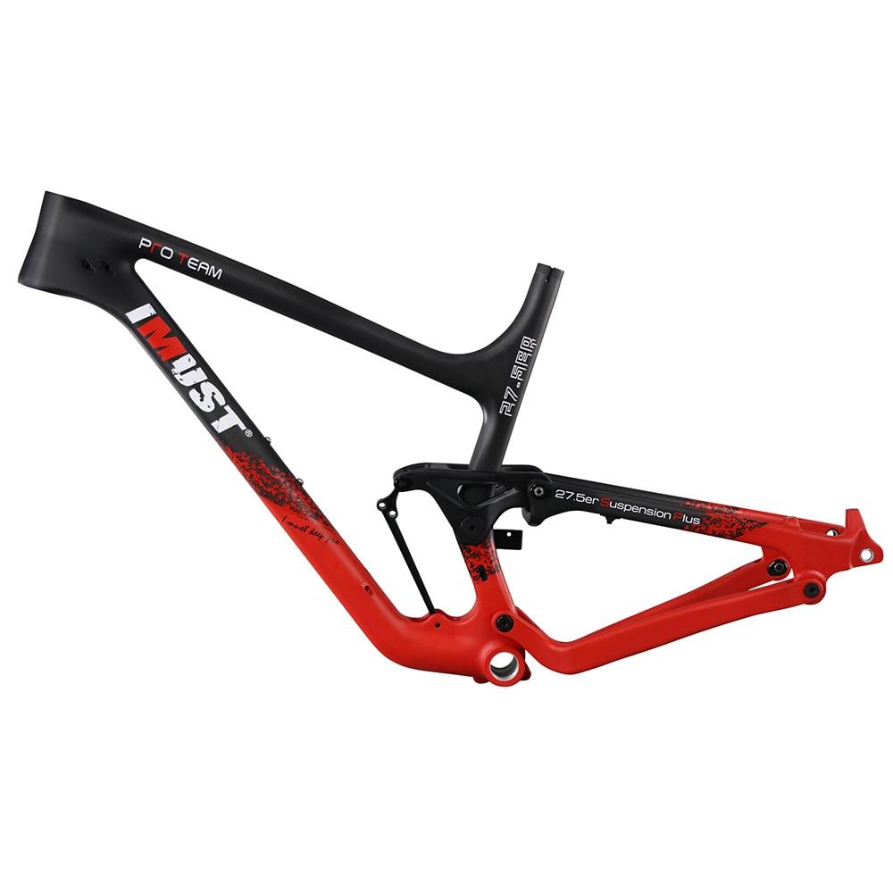 XP07 27.5 Plus cadre en carbone 650B + cadre de vélo de montagne 148x12 espace arrière ajustement 3.0 gros pneus plein cadre de suspension