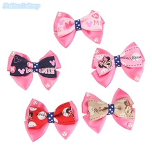 10pcs/lot Cute Mickey Hairpins Lace Bow-knot Pearl Hair Clips Girls Hair Styling Decorations Kids Lovely Trinkets