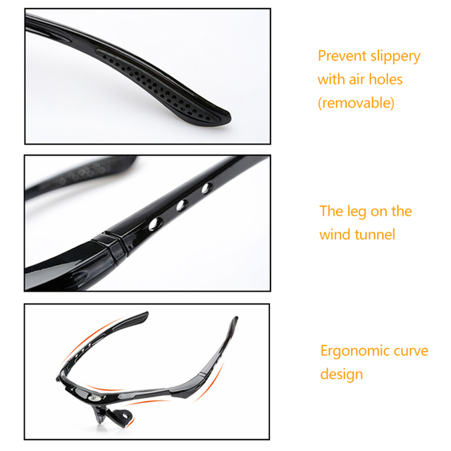 2020 Polarized Cycling Glasses Eyewears 3 Lens Uv400 Mountain Road Bicycle Glasses Mtb Running Fishing Sunglasses Eyewear 1