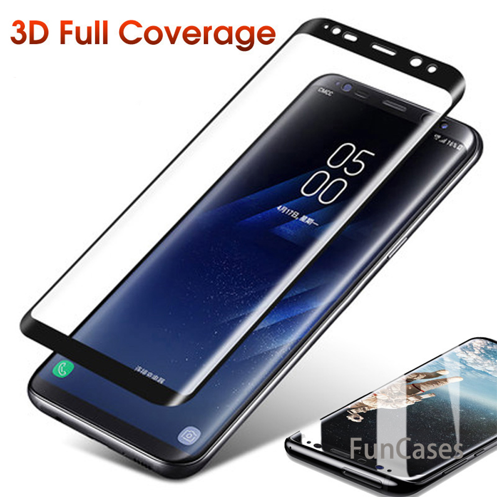 6D Curved Full <font><b>Cover</b></font> 9H Tempered <font><b>Glass</b></font> For <font><b>Samsung</b></font> <font><b>Galaxy</b></font> Note8 S6 7 Edge S8 9Plus <font><b>A3</b></font> 5 7 <font><b>2017</b></font> Screen Protector Phone Cases Film image