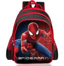 Nuevas adquisiciones 2016 Boys bolsas escuela historieta del hombre araña 3D niños mochilas escolares Kindergarten / primaria muchacho niños de mochila Satchel