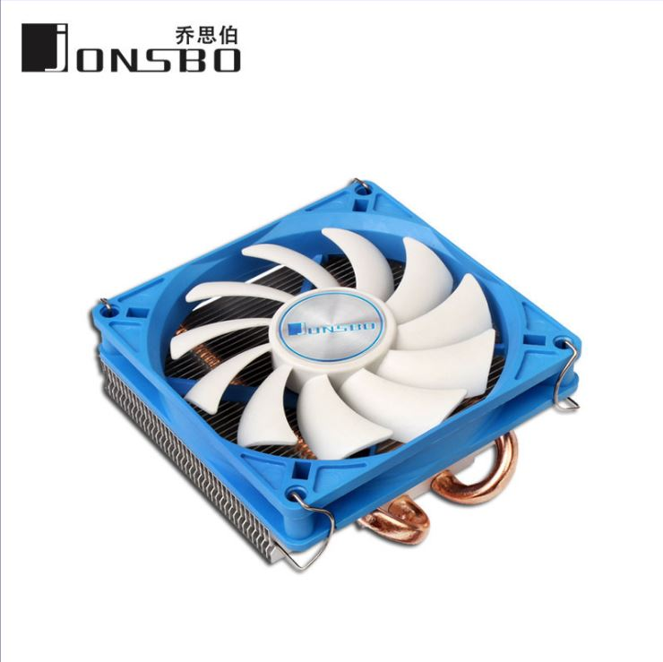 JONSBO HP-200 9CM Fan Solar Eclipse Type Dual Heat pipe CPU Radiator Ultra-thin jonsbo cr 101 desktop pc heat pipe cpu radiator light led fan