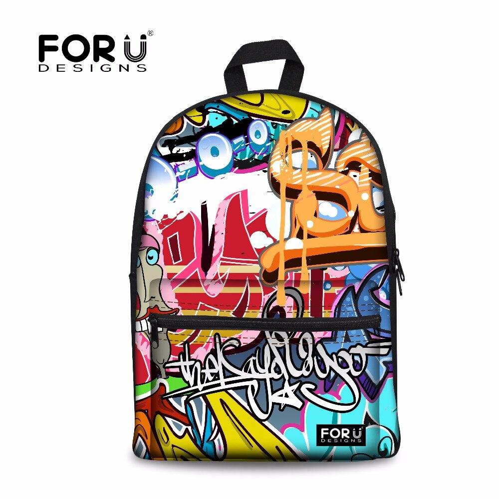 0c21d85ab4 FORUDESIGNS 3D Graffiti Women School Bag Casual Shoulder Schoolbag For  Teenagr Girls Student Daily School Bags Mochila Infantils-in School Bags  from Luggage ...