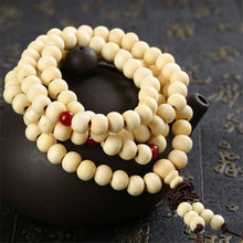 Pulseras 108 Beads 6mm Natural Sandalwood Buddhist Buddha Wood Prayer Bead Mala Unisex Men Bracelets & Bangles Jewelry Bijoux(China)
