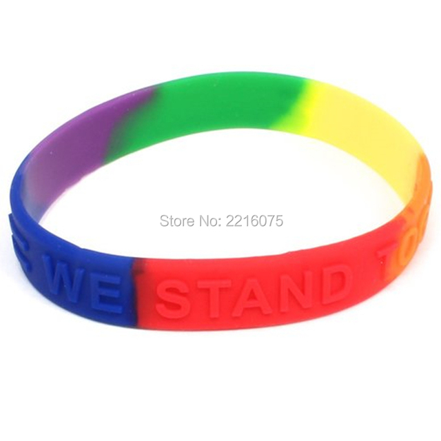 300pcs Equality Rainbow Awareness Silicone Wristband Rubber Bracelets Free Shipping By Dhl Express