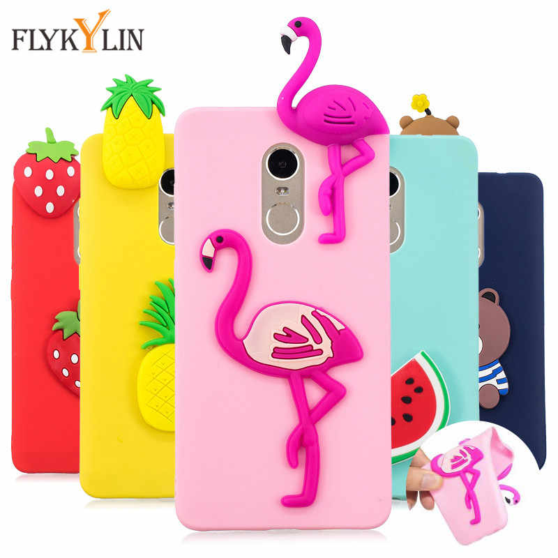 Flykylin Lucu Lembut TPU Phone Case untuk Xiaomi Redmi Note 4 3D Silikon Boneka Mainan Kartun Cover untuk Fundas Xiaomi redmi Note4 Case