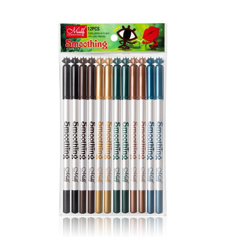 12pcs/set Professional Matte Lip Liner Pencil Rose Liner Waterproof Long Lasting Pen Makeup Cosmetic Tools Waterproof Product
