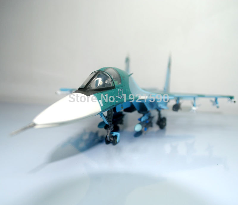 Terebo 1/72 Scale Military Model Toys Russia SU-34 (SU34) Flanker Combat Aircraft Fighter Diecast Metal Plane Model Toy