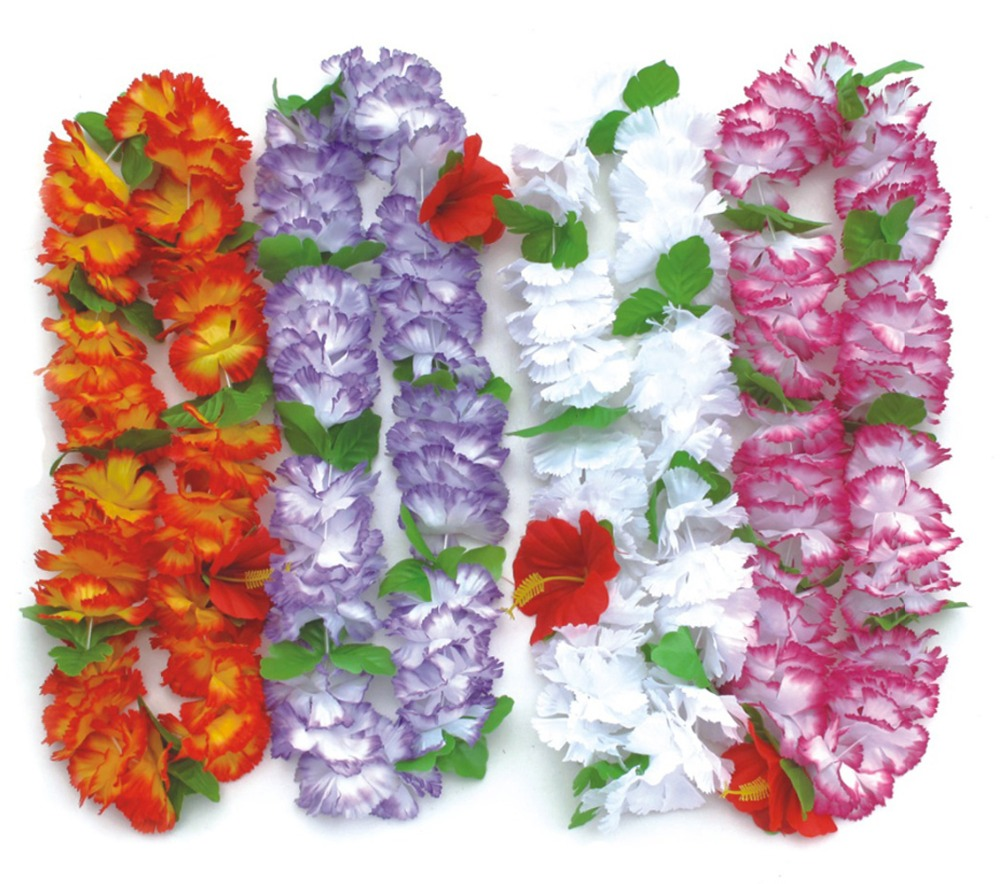 10pcslot Hawaiian Leis Party Supplies Garland Necklace Colorful