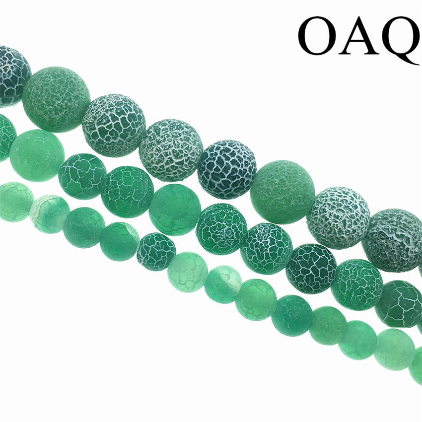 4-12mm Dull Polish Green Dream Carnelian Beads Natural Stone Beads Fire Dragon Veins Stone Beads For Jewelry Making ...