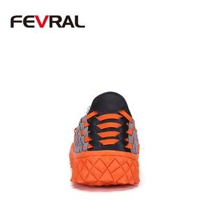 Image 3 - FEVRAL zapatos de tejido hechos a mano para mujer, mocasín clásico, cómodos, sin cordones, planos, informales