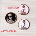 Best Price Round Crystal Rhinestone Beauty Girl Round Enamel Button Patch Sticker Fit for Girls Hair Bow Center Phone Case Decor