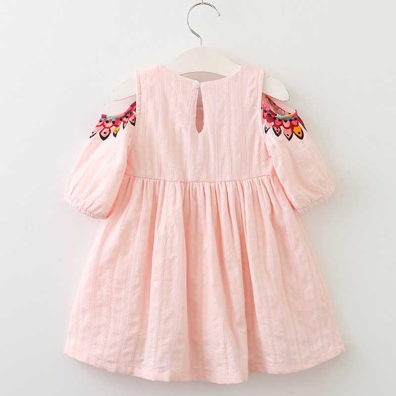 084abfc6ddfb4 2019 Summer Brand New Girl Princess Dress Children Clothes Floral Printed  Design Kids Dresses for 3-7Y Girls Clothing Dresses