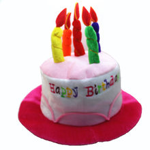 Birthday Cake Candle Hat Short Plush Adult Party Amusement Park Supplies Performing Dress Props Cap PAK55(China)
